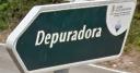 Sign pointing up track towards Santa Monica