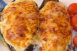 Menorcan style stuffed aubergine