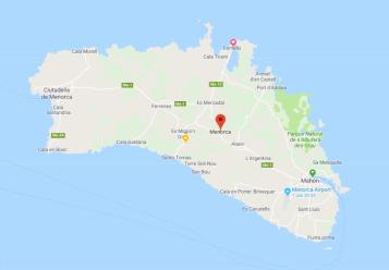 Menorca with main raod Me-1