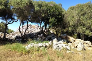 A settlement has been unveiled near Santa Monica, Menorca, when bushes were cleared to show evidence that people lived here thousands of years ago